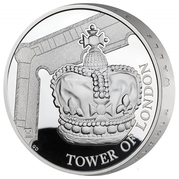 Crown Jewels 2019 UK £5 Silver Proof Piedfort Coin