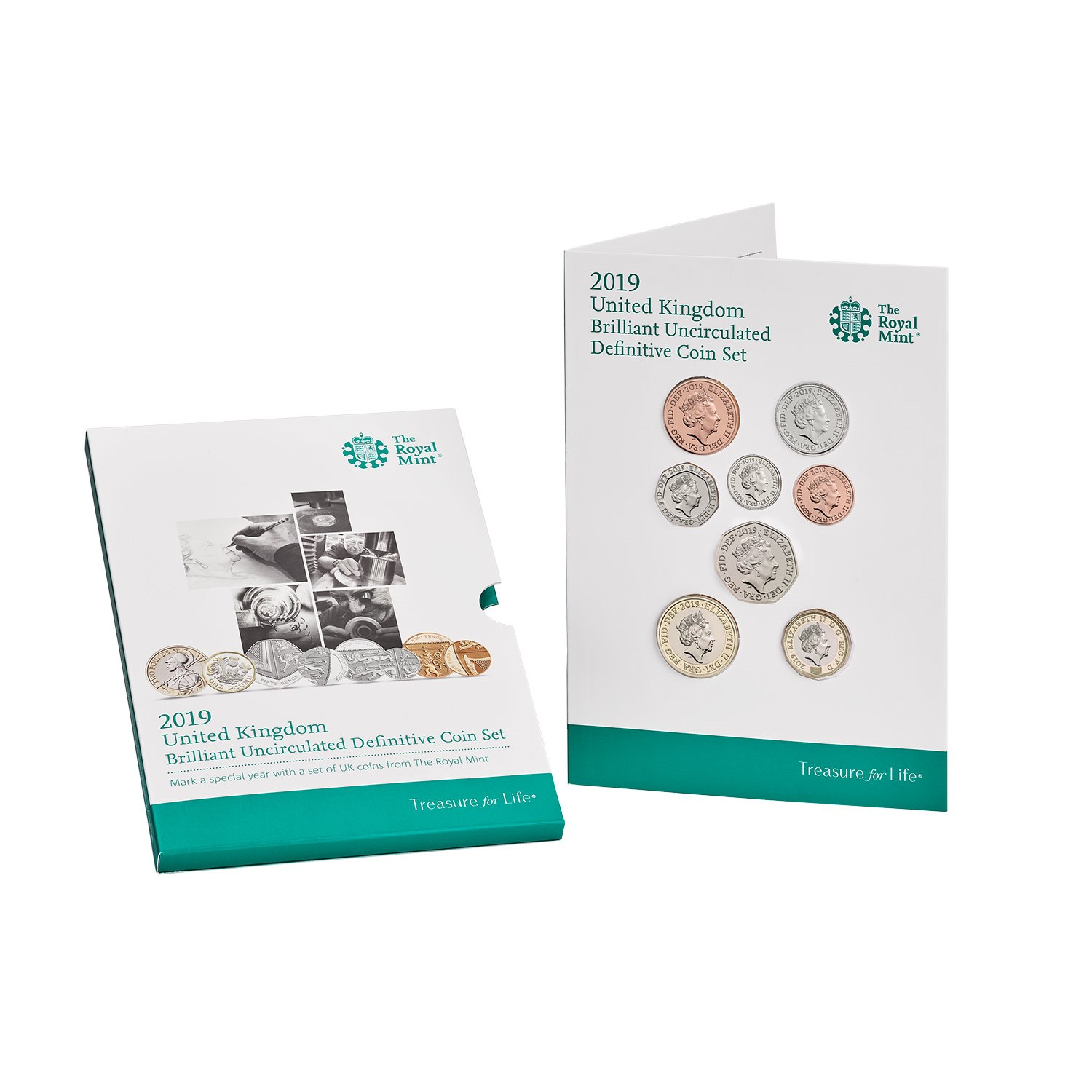 2019 United Kingdom Definitive Brilliant Uncirculated Coin Set