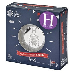 Houses of Parliament 2018 UK 10p Silver Proof Coin in Acrylic Block