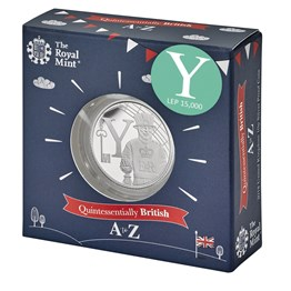 Yeoman Warder 2018 UK 10p Silver Proof Coin in Acrylic Block