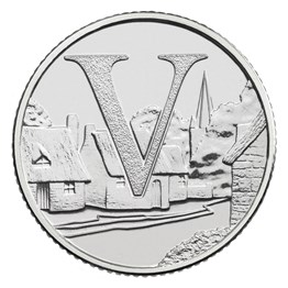 V - Villages 2019 UK 10p Uncirculated Coin
