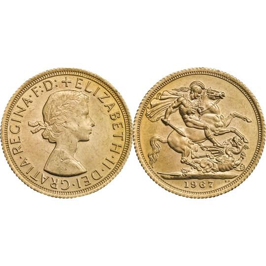 1967 Queen Elizabeth II Sovereign Extremely Fine