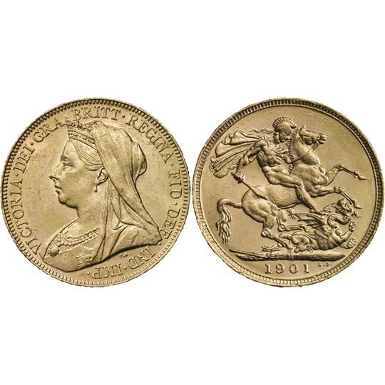 1901 Queen Victoria Sovereign Good VF