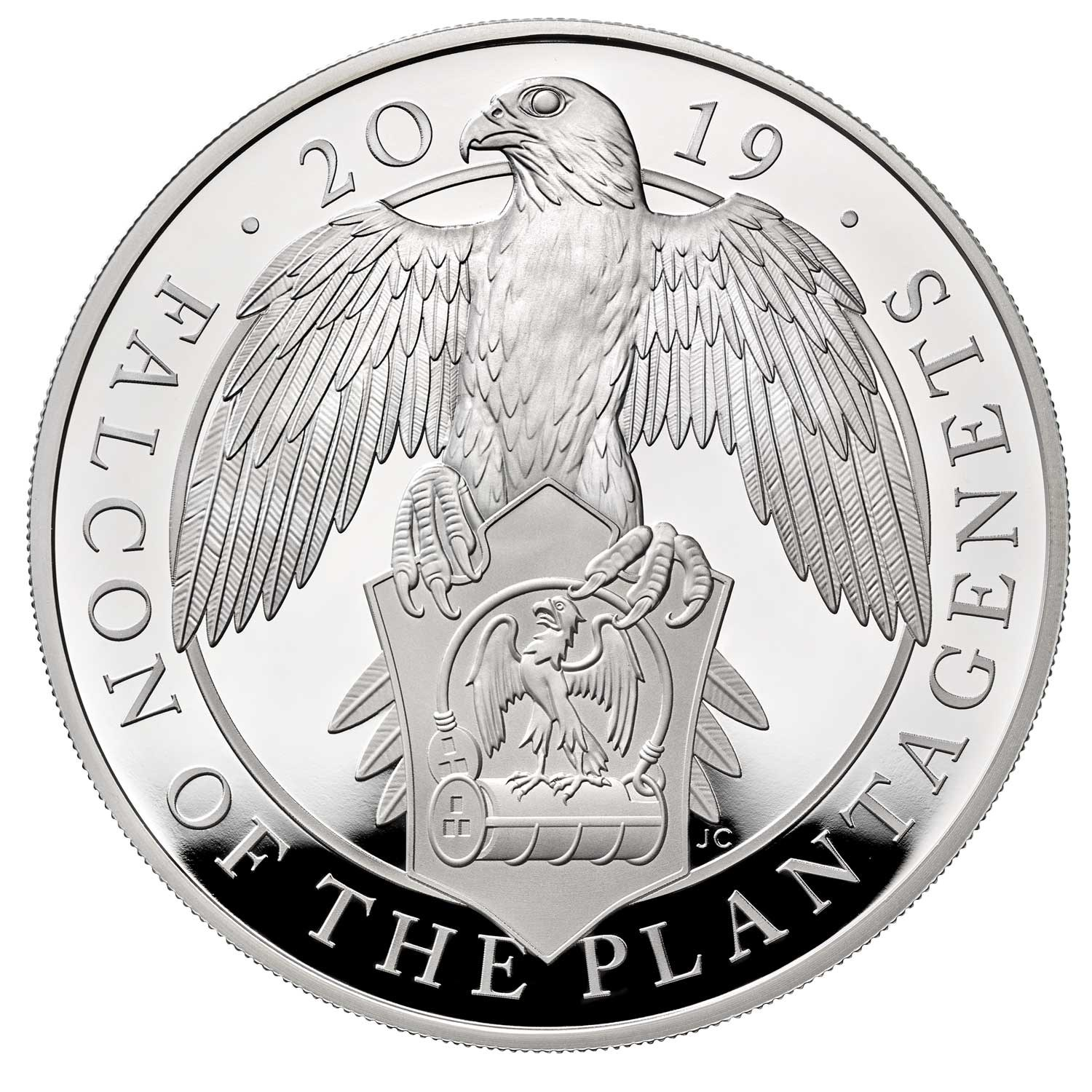 The Falcon of the Plantagenets 2019 UK Ten-Ounce Silver Proof Coin