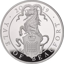The Queen��s Beasts The Yale of Beaufort 2019 UK Ten-Ounce Silver Proof Coin