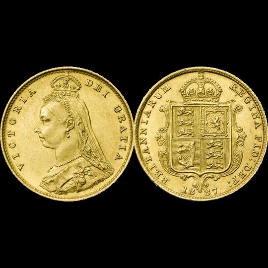 1887 Victoria Jubilee Half-Sovereign