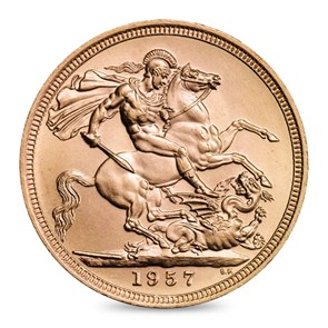 1957 Queen Elizabeth II Sovereign