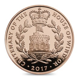 House Of Windsor Centenary 2017 Uk 5 Gold Proof Coin