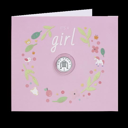 2684a68e8 Baby Girl Silver Penny Gift Card Presentation