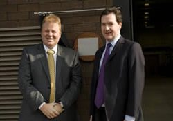 Chief Exeucutive, Adam Lawrence and the Chancellor of the Exchequer & Master of the Mint