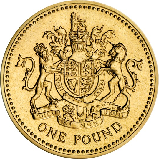 1983 Royal Arms One Pound Coin The Royal Mint
